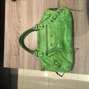 Green Balenciaga handbag!